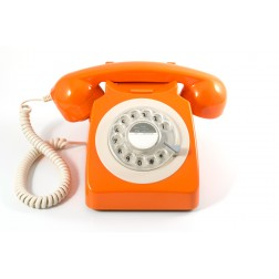 Retro Rotary Telephone - Orange