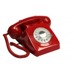 Retro Rotary Telephone - Red
