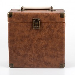 Retro 7in Vinyl Case - Brown