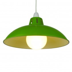 "Funnel 12"" Green Lampshade"