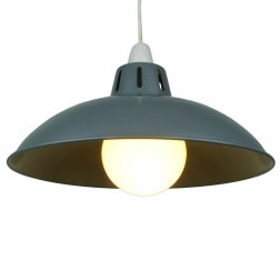 """Funnel 16"""" Grey Lampshade"""