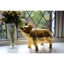 Gold Pig Ornament