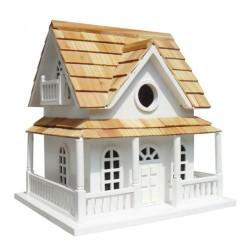 Hobbit House Mounted Bird House - White