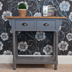 Henley 2 Drawer Console Table - Grey