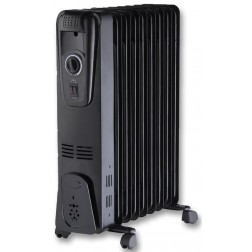 Black 2kW Oil Filled Radiator
