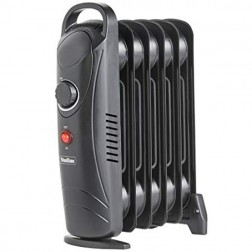 5 Fin 650W Oil Filled Heater - Black
