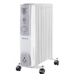 11 Fin 2.5kW Oil Filled Heater - White