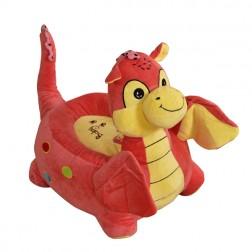 Plush Dragon Riding Chair Pink