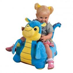 Plush Dragon Riding Chair Blue