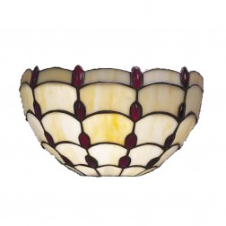 Tiffany Style Ruby Jewel Wall Light