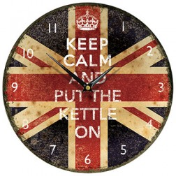 Keep Calm and Put the Kettle On Wall Clock