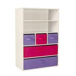 5 Layer Rainbow Storage Unit - Pink/Purple