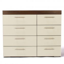 Off-White 8 Drawer Chest