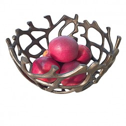 Bronze Twig Basket Bowl