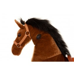 Large Brown Ride on Horse