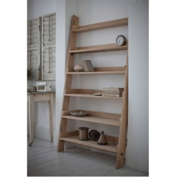 Large Raw Oak Book Shelf Ladder