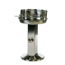 "Stainless Steel 22"" Pedestal Charcoal BBQ"