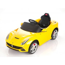 Yellow Ferrari Ride on Car