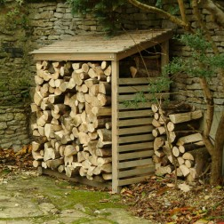 Large Stylish Wooden Log Store / Shed / Storage