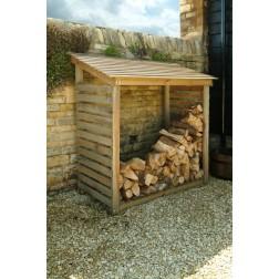 Large Stylish Wooden Log Store / Shed / Storage