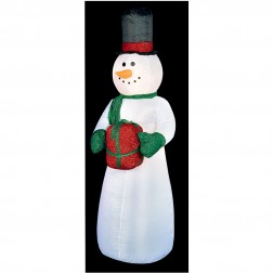 2.4m Inflatable Snowman