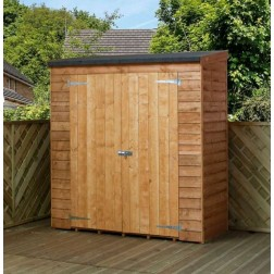 "Lupton 6' x 2'6"" Pent Overlap Outdoor Wooden Storage"