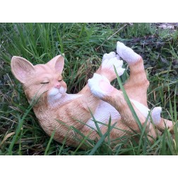 Playful Cat Garden Ornament