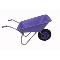 Outdoor Garden Wheelbarrow in Purple/ Lilac Self Assembly - 85 Ltr Pan