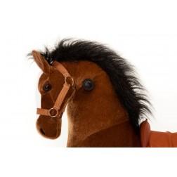Medium Brown Ride on Horse