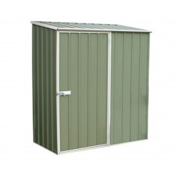 Space Saver Shed 1.52m x 0.78m in Zinc Grey or Pale Eucalyptus Colour