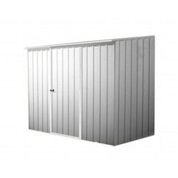 Space Saver Metal Shed in Zinc Grey or Pale Eculyptas - 2.26x1.52m
