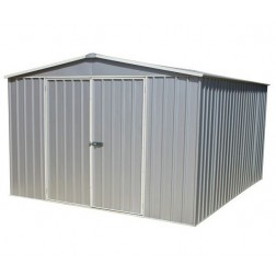 3m x 3.66m Garden Shed in a Zinc or Pale Eucalyptus Colour