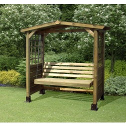 The Poseidon Wooden Arbour Swingseat