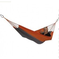 Techno Silk Traveller Swinging Grey and Orange Hammock