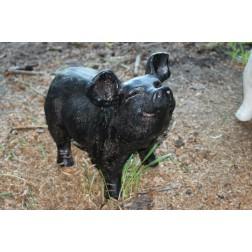 Bronze Pig Garden Ornament