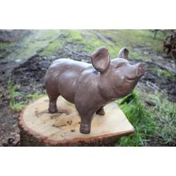 Brown Pig Garden Ornament