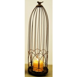 Large Paris Lantern with Decorative Birds