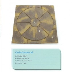 Quality Paving Circle & Sq Off Kit 1.8m² In A Stunning Buff/Sandstone And Grey Colour For Garden/ Patio