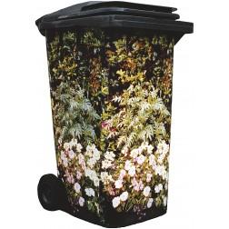 Flowering Planter Design Wheelie Bin Cover Camouflage Sticker