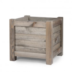 Spruce Wood Large Square Planter