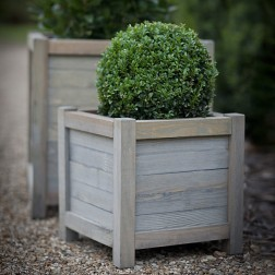 Spruce Wood Small Square Planter