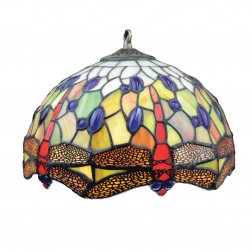 Tiffany Style Colourful Dragonfly Light Shade