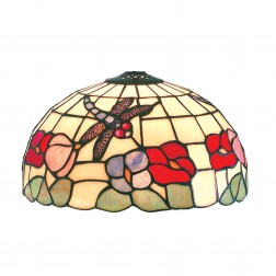 Beige Dragonfly Tiffany Dome Shade