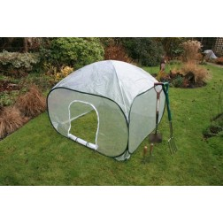 Easy Pop-Up Garden Poly House / Mini Greenhouse - 1.35m x 1.35m x 0.75m High
