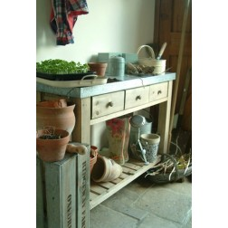 Zinc Top Potting Table