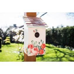 Printed Saltbox Bird House - Peony