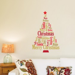 Quote Christmas Tree Wall Sticker