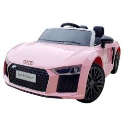 Children's Licensed Audi 12v Ride on Car - Pink