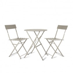 Small Round 2 Seater Bistro Set Clay