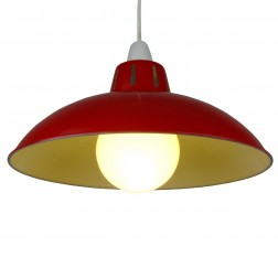 "Funnel 12"" Red Lampshade"